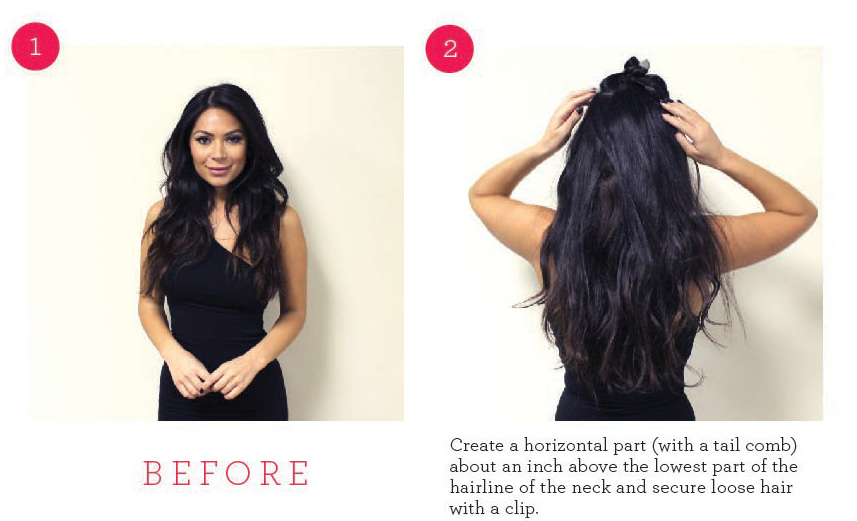 How To Apply Clip In Hair Extensions From Market Hair Extensions Blog