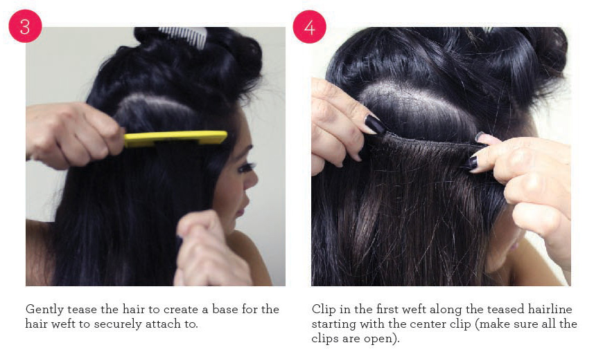 Comb Your Hair To Blend The Extension With Real