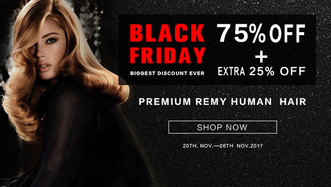 2017 Black Friday Hair Extensions Sale