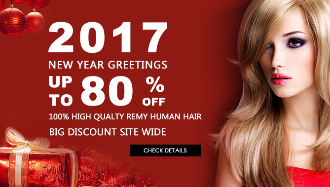 2017 Hair Extensions New Year Sale