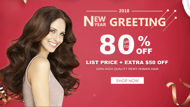 2017 Happy New Year Hair Extensions Sale USA