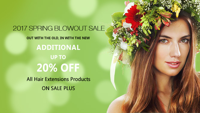 2017 Hair Extensions Patrick's Day Sale