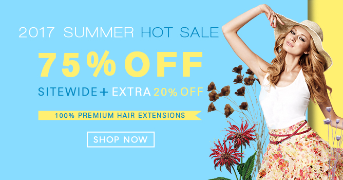 2017 Hair Extensions Summer Sale
