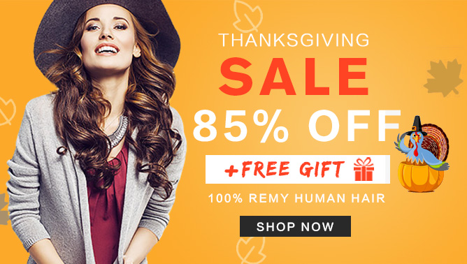 2017 thanksgiving Hair Extensions Sale