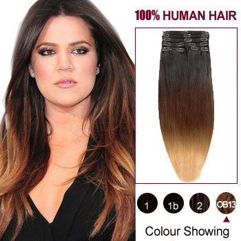Ombre hair extensions 20 three colors 1b 27 and 30 ombre 20 inches three colors 1b 27 and 30 ombre indian remy clip in pmusecretfo Choice Image