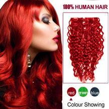 Curly clip in hair extensions human hair extensions clip in up 16 inches red 7pcs curly full head set clip in indian remy hair extensions pmusecretfo Image collections