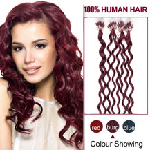 16 inches Bug 100S Curly Micro Loop Human Hair Extensions