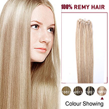 16 inches (#18/613) Micro Loop Human Hair Extensions