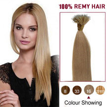 18 inches Golden Blonde(#16) Nano Ring Hair Extensions
