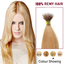 18 inches Strawberry Blonde(#27) Nano Ring Hair Extensions