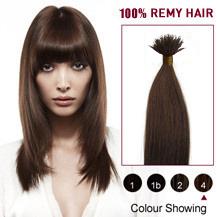 "18"" Medium Brown(#4) Nano Ring Hair Extensions"