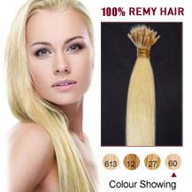 "18"" White Blonde(#60) Nano Ring Hair Extensions"