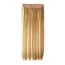 24 inches Golden Mixed(#12/613) One Piece Clip In Synthetic Hair Extensions