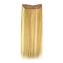24 inches Blonde Highlight(#18/613) One Piece Clip In Synthetic Hair Extensions
