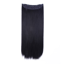24 inches Natural Black(#1b) One Piece Clip In Synthetic Hair Extensions