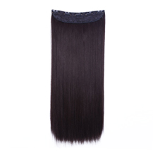 24 inches Medium Brown(#4) One Piece Clip In Synthetic Hair Extensions