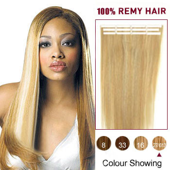16 blonde highlight 27613 20pcs tape in human hair extensions 16 inches blonde highlight 27613 20pcs tape in human hair extensions pmusecretfo Gallery