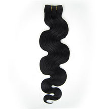 10 inches Jet Black (#1) Body Wave Indian Remy Hair Wefts