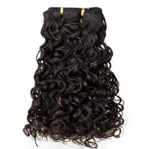 10 inches Dark Brown (#2) Curly Indian Remy Hair Wefts