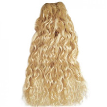 10 inches Bleach Blonde (#613) Curly Indian Remy Hair Wefts