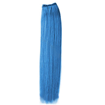 26 inches Blue Straight Indian Remy Hair Wefts