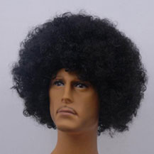 Fashionable Wig For Sports Curly Natural Black