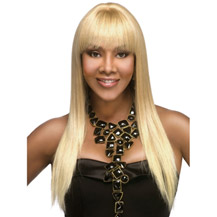 20 inches Human Hair Full Lace Wig Straight Bleach Blonde