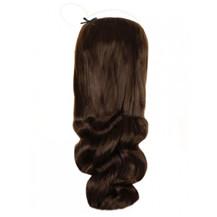 "18"" 50g Human Hair Secret Extensions Wavy Medium Brown (#4)"