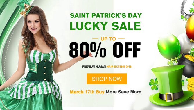 2018 Happy Saint Patrick's Day Hair Extensions Sale USA