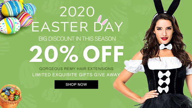 2020 Easter Day Hair Extensions Sale USA