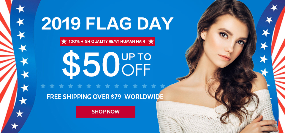 2019 hair extensions flag day sale usa
