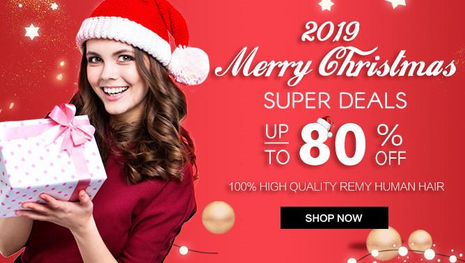 2019 Christmas Hair Extensions Sale USA