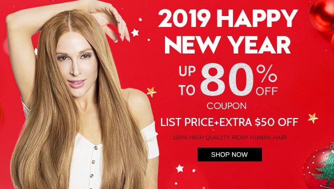 2019 Hair Extensions New Year Sale USA