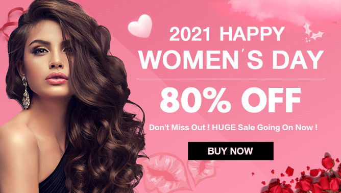 2021 Women Day Hair Extensions Sale USA