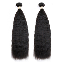 14 inches Weft 1B# Natural Black Kinky Yaki Straight 2PCS