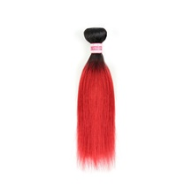 10 inches Weft Ombre #1B/RED Straight 1PCS