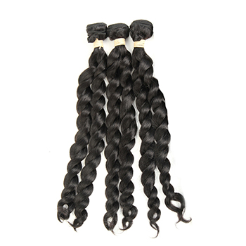 10 inches Weft 1B# Natural Black French Twist 3PCS
