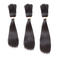 12 inches 14 inches 16 inches Wefts 1B# Natural Black Braid In Bundles Straight 3PCS