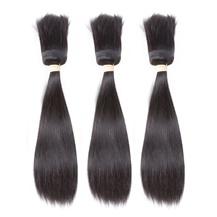 "10"" Weft 1B# Natural Black Braid In Bundles Straight 3PCS"