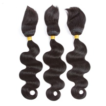 10 inches Weft 1B# Natural Black Braid In Bundles Body Wave 3PCS