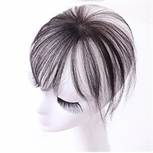 Dark Brown One Clip on Hairpiece with 3D fringe Hair Topper For Woman