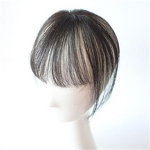 Natural Black One Clip on Thick Hairpiece with 3D fringe Hair Topper For Woman
