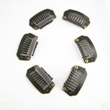 20pcs Coffee 8 Teeth Hair Extension Clips