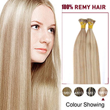"22"" #18/613 50S Stick Tip Human Hair Extensions Straight"