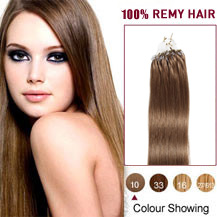 16 inches  Light Brown2(#10) Micro Loop Human Hair Extension