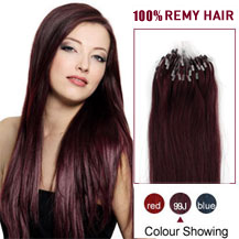 16 inches 99J 50S Micro Loop Human Hair Extensions