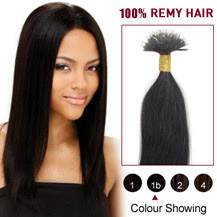 16 inches Natural Black(#1b) Nano Ring Hair Extensions