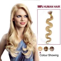 "20"" Ash Blonde(#24) Nano Ring Wavy Hair Extensions"