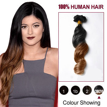 20 Two Colors 1b And 30 Straight Ombre Indian Remy Clip In Hair