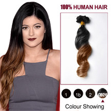 16 inches Two Colors #1b And #30 Straight Ombre Indian Remy Clip In Hair Extensions